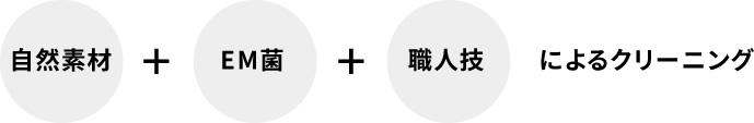 【自然素材+EM菌+職人技】によるクリーニング